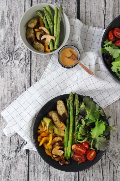 Sommersalat mit Grillgemüse