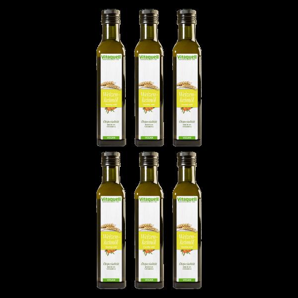 Weizenkeimöl mit Sanddorn 6 x 250 ml Vorteilspaket