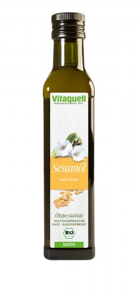 Sesam-Öl kaltgepresst Bio, nativ (aus ungerösteter Saat) 250 ml