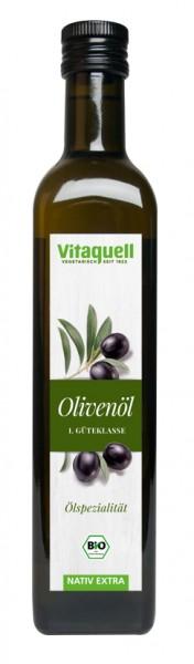 Vitaquell Olivenöl 1. Güteklasse EU Bio nativ-extra 500 ml