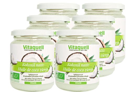 6 x Kokosöl Bio, nativ 215 ml