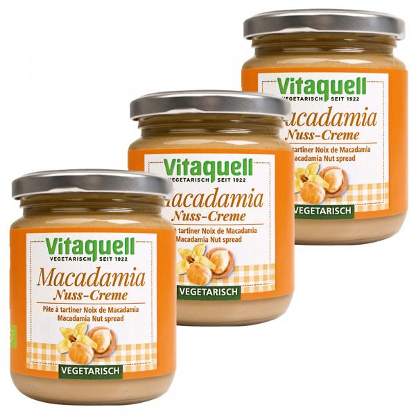 3 x Macadamia-Nuss-Creme Bio - vegetarisch, 250 g
