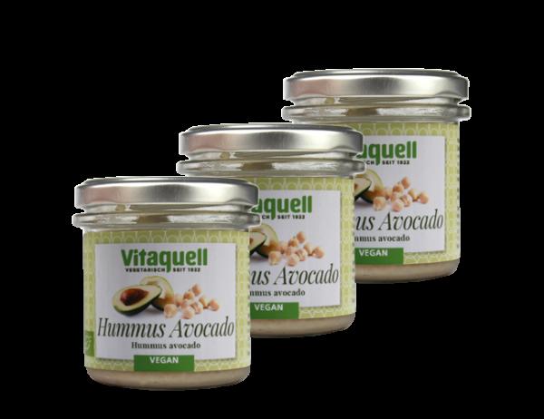 3 x Hummus Avocado Bio, 130 g