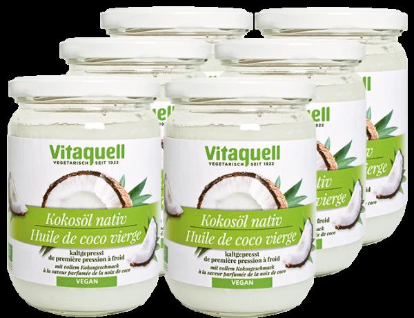6 x Kokosöl Bio, nativ 430 ml