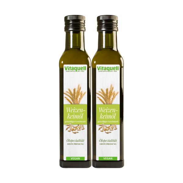 2 x Weizenkeim-Öl, 1. Pressung 250 ml