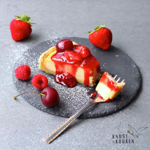Cheesecake mit Roter Grütze