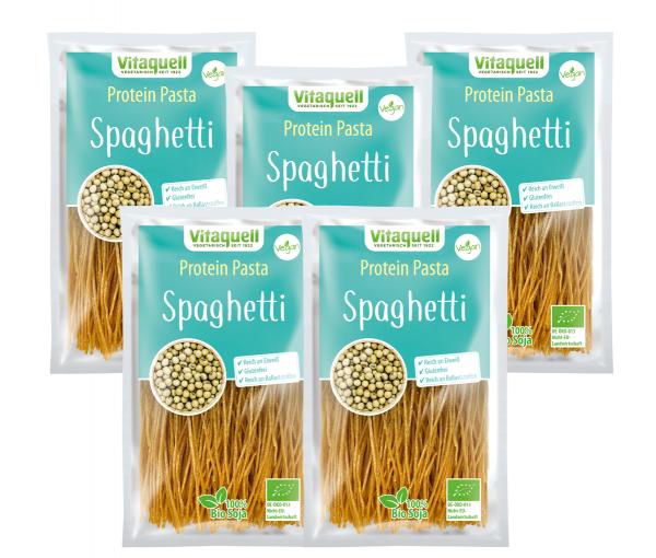 5 x Protein Pasta Spaghetti Bio, 200 g