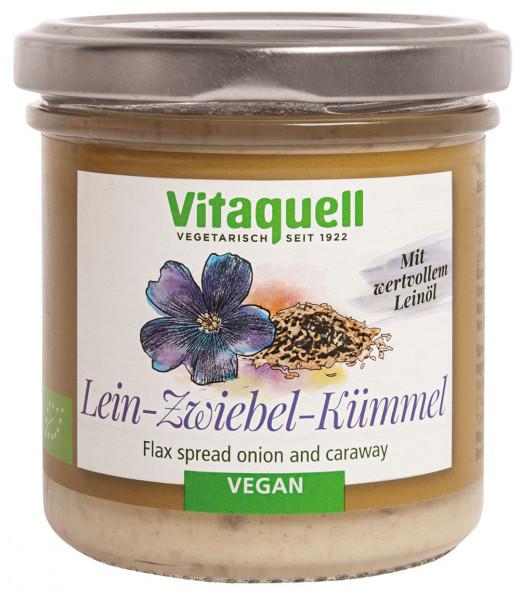 Leinölaufstrich Zwiebel-Kümmel Bio, 130 g