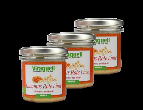3 x Hummus Rote Linse Bio, 130 g
