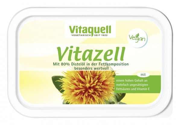 Vitazell Vegane Pflanzenmargarine im 250 g Becher