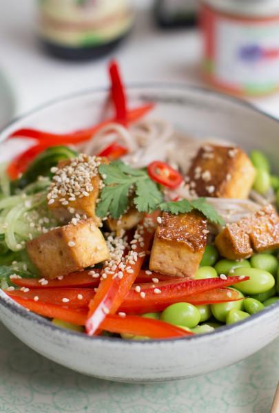 Vegane Sobanudel-Bowl
